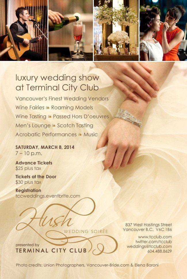 hush wedding show vancouver