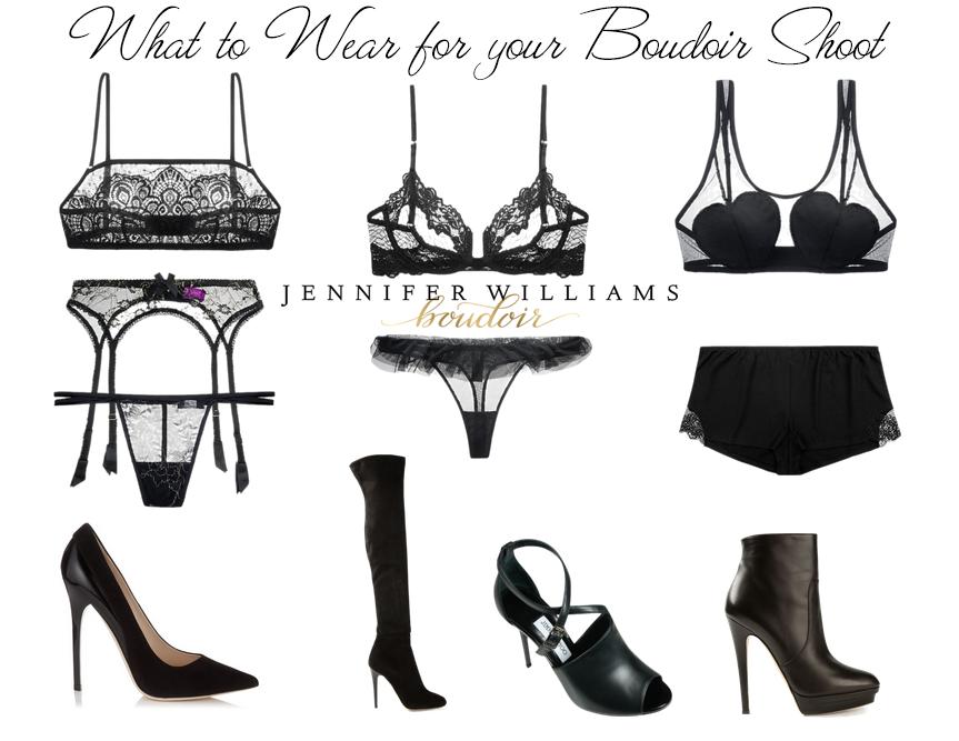 lingerie for a boudoir photo shoot